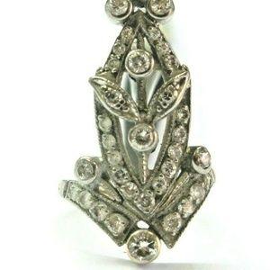 Jewelry - Vintage Milgrain Diamond Two Tone WIDE Ring .50Ct